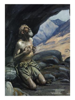 Elijah in cave