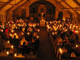 Vigil inside church