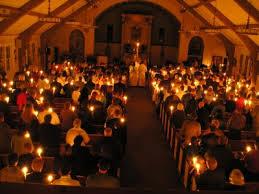 Vigil inside church