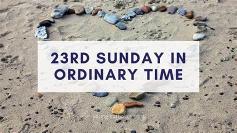 23rd Sunday